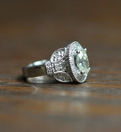 Custom Mounting for Heirloom Diamond